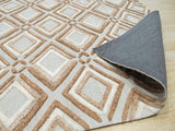 Brown Contemporary Raga Rug