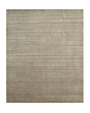 Brown/Gray Solid Handmade Urban Rug