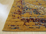 Gold Erased Serapi Geometric Rug