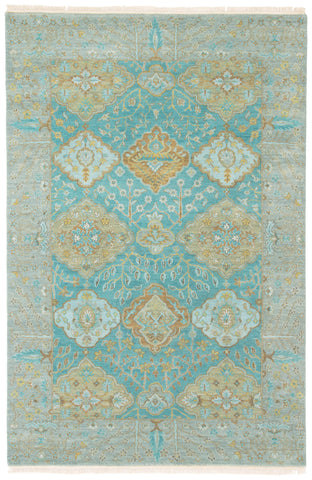 Jaipur Living Allegro Hand-Knotted Floral Teal/ Green Area Rug (9'X12')