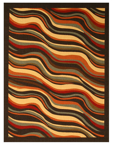 Black Contemporary Abstract Euro Home Rug