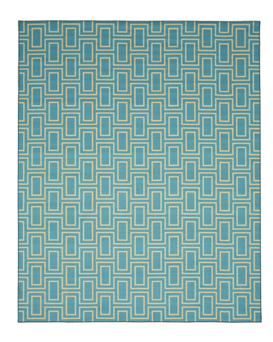 Blue Contemporary Geometric Brandon Rug
