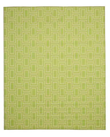 Green Contemporary Geometric Brandon Rug