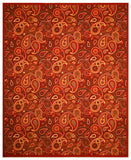 Red Transitional Floral Euro Home Rug