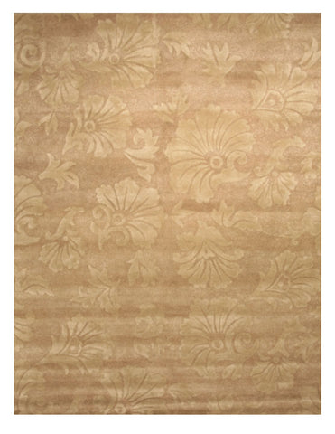 Hand-tufted Wool Brown Transitional Floral Morgan Rug