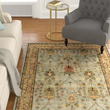 Blue Traditional Morris Rug