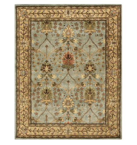 Hand-tufted Wool Blue Traditional Oriental Morris Rug