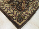 Brown Traditional Morris Rug