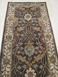 Hand-tufted Wool Brown Traditional Oriental Morris Rug