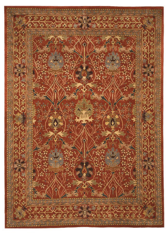 Hand-tufted Wool Rust Traditional Oriental Morris Rug