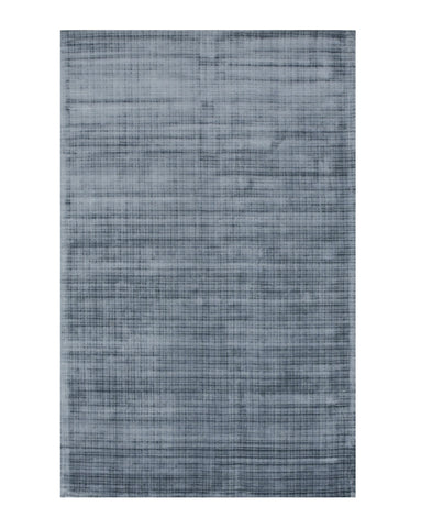 Handwoven Viscose Blue Contemporary Solid Milano Rug