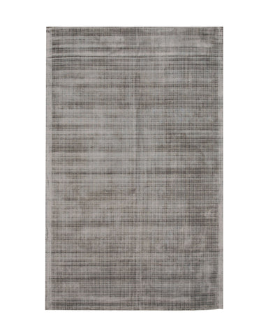 Handwoven Viscose Silver Contemporary Solid Milano Rug