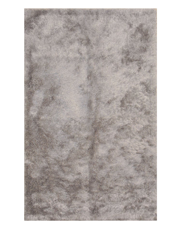 Silver Contemporary London Shag Rug
