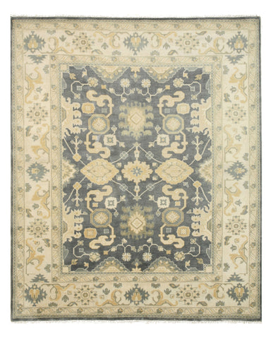 Hand-knotted Wool Blue Traditional Oriental Oushak Rug