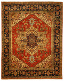 Rust Traditional Serapi Rug