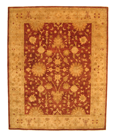 Hand-tufted Wool Rust Traditional Oriental Agra Rug