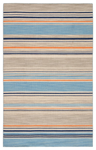 Jaipur Living Amistad Handmade Stripe Blue/ Orange Area Rug (9'X12')