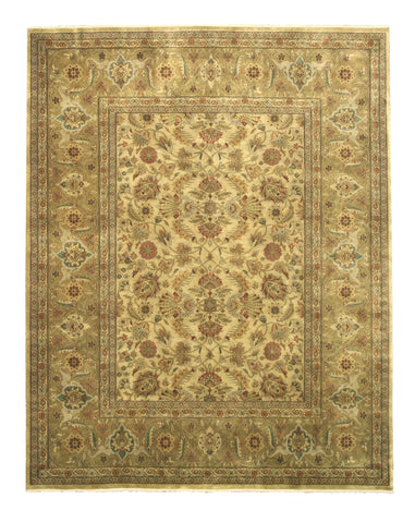 Hand-knotted New Zealand Wool Gold Traditional Oriental Tabriz Rug (2'6 x 12')