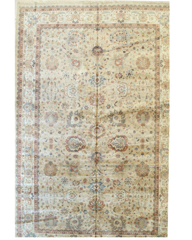 Camel/beige Hand-knotted Wool Traditional Agra Rug