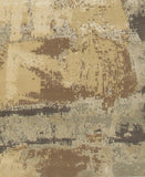 Hand Crafted Wool & Viscose Ivory Contemporary Abstract Hand Crafted Rug