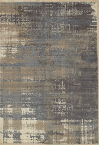 Hand Crafted Wool & Viscose Blue Contemporary Abstract  Rug