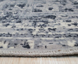 Hand Crafted Wool & Viscose Gray Traditional Oriental  Rug