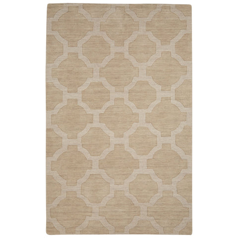 Jaipur Living Amberlight Handmade Trellis White/ Light Gray Area Rug (2'X3')