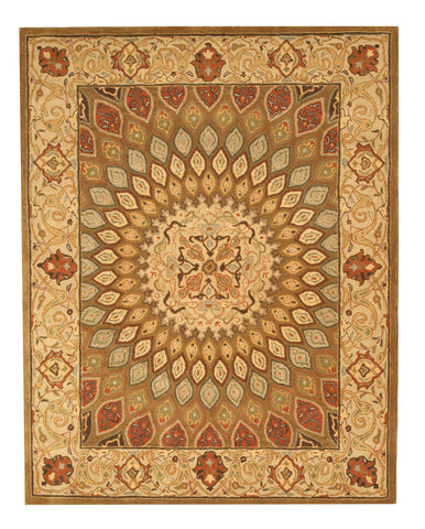 Hand-tufted Wool Brown Traditional Oriental Gombad Rug