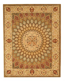 EORC SHT12BN Hand Tufted Wool Gombad Rug, 9'6 x 13'6, Brown
