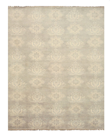Hand-knotted Wool Gray Traditional Oriental Mono Rug