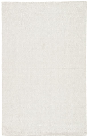 Jaipur Living Snowberry Handmade Geometric White Area Rug (8'X10')
