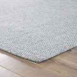 Jaipur Living Snowberry Handmade Geometric Gray/ Aqua Area Rug