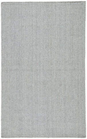 Jaipur Living Snowberry Handmade Geometric Gray/ Aqua Area Rug (9'X12')