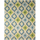 Hand-tufted Wool Ivory Contemporary Abstract Seagrass Ikat Rug