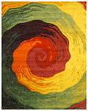 Hand-tufted Wool Contemporary Abstract Cowabunga Rug