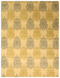 Hand-tufted Wool Ivory Transitional Abstract Royal Paisley Rug
