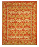 Hand-tufted Wool Rust Transitional Oriental Morris Rug