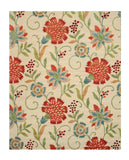 Hand-tufted Wool Ivory Transitional Floral Spring Garden Rug