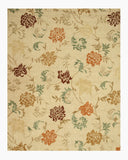 Hand-tufted Wool Beige Transitional Floral Looped Pile Carolina Rug