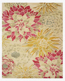 Hand-tufted Wool Ivory Transitional Floral Sunflower Rug