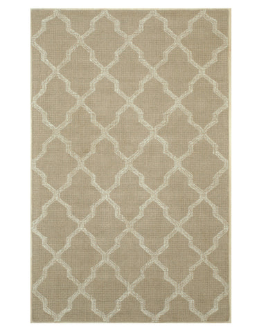 EORC T153BG Hand-tufted Wool Lexington Rug, 5' x 8', Beige