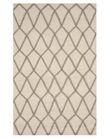 Handmade Wool Gray Transitional Trellis Xavier Rug