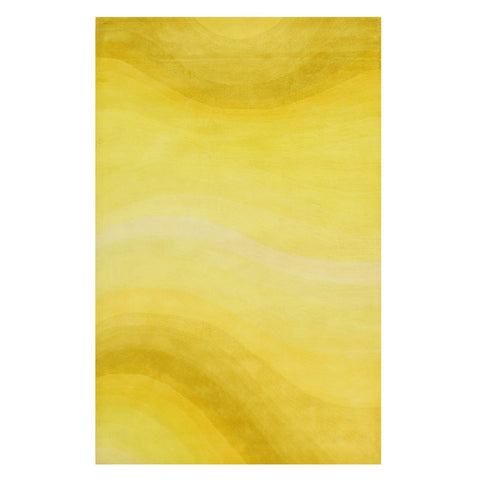 Yellow Desertland Hand-tufted Wool Rug