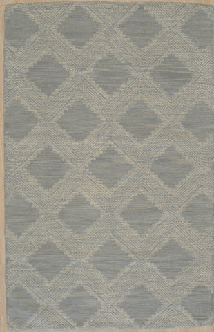 Hand-tufted Wool LIGHT BLUE Contemporary Transitional Modern Weave Rug