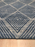Hand-tufted Wool Blue Contemporary Transitional Spring 2030 Rug