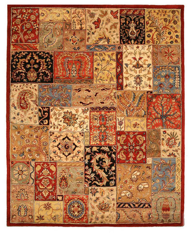 Hand-tufted Wool Red Transitional Oriental Bakhtiar Rug