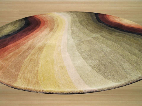 Hand-tufted Wool Multicolored Contemporary Abstract Desertland Rug