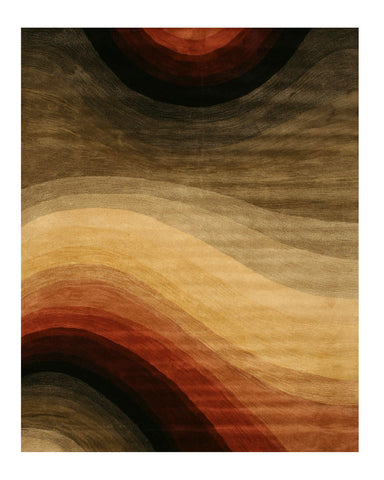 Hand-tufted Wool Contemporary Abstract Desertland Rug