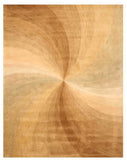 Hand-tufted Wool Gold Contemporary Abstract Swirl Rug