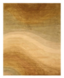 Hand-tufted Wool Gold Contemporary Abstract Desertland Rug
